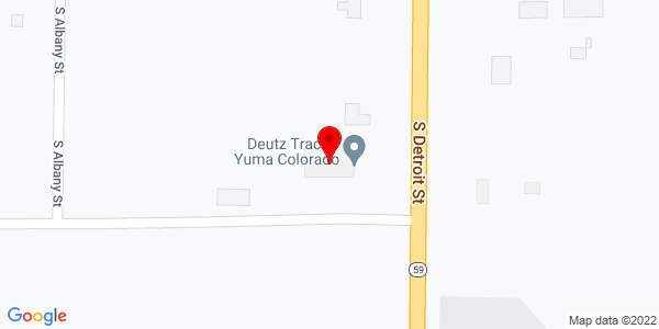 Google Map of +37525+Hwy+59+Yuma+CO+80759