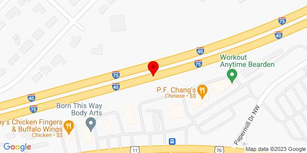 Google Map of +3922+I-40+East+Amarillo+TX+79103