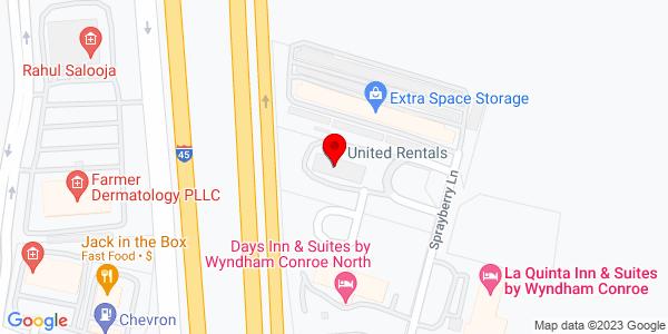 Google Map of +4007+Sprayberry+Lane+Conroe+TX+77303