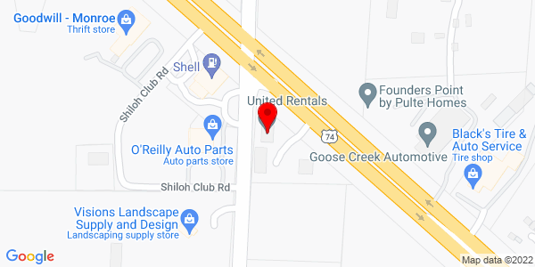 Google Map of +4017+Hwy+74+West+Monroe+++NC+28110