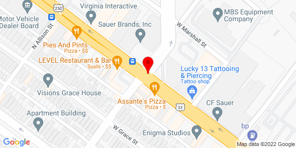 Google Map of +405+Hermitage+Road+Richmond+VA+23220