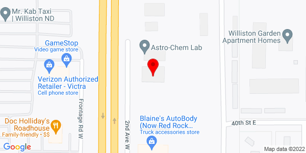 Google Map of +4082+2nd+Avenue+W+Williston+ND+58801
