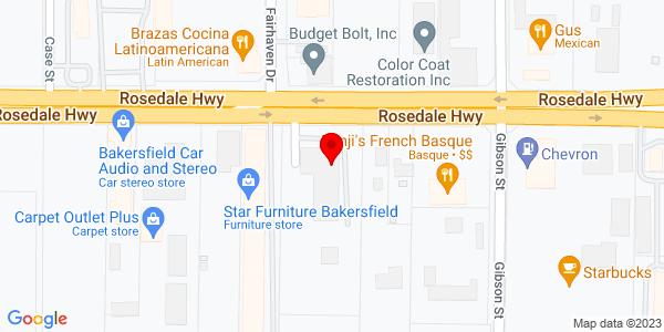 Google Map of +4117+Rosedale+Hwy+Bakersfield+CA+93308