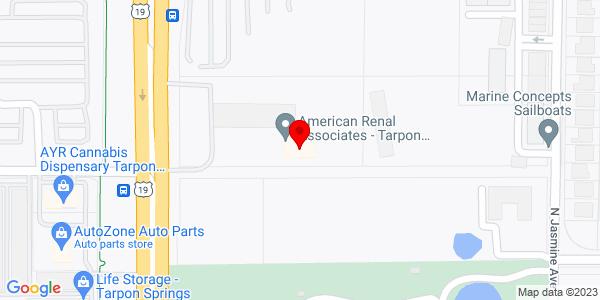 Google Map of +41747+US+Hwy+19+N+Tarpon+Springs+FL+34688