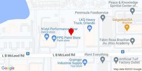 Google Map of +4201+L.B.+Mcleod+Rd.+Orlando+FL+32811