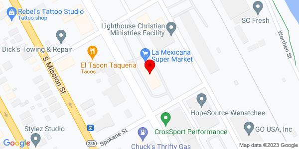 Google Map of +421+South+Wenatchee+Avenue+Wenatchee+WA+98801