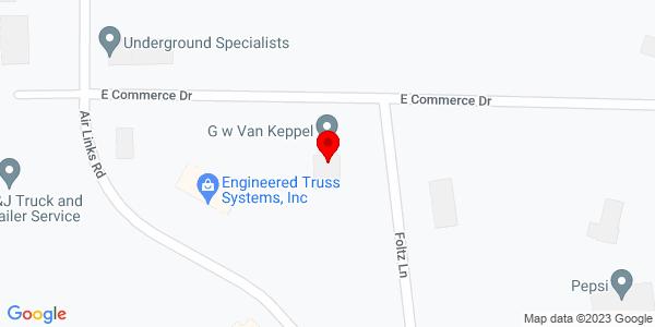 Google Map of +4250+E.+Commerce+Drive+Garden+City+KS+67846