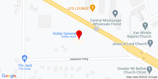 Google Map of +4330+Hwy+80+West+Jackson+MS+39209