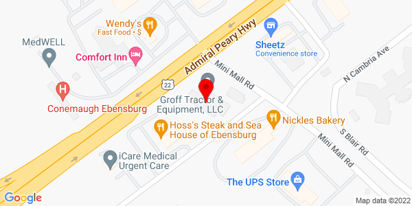 Google Map of +4355+Admiral+Peary+Highway+Ebensburg+PA+15931