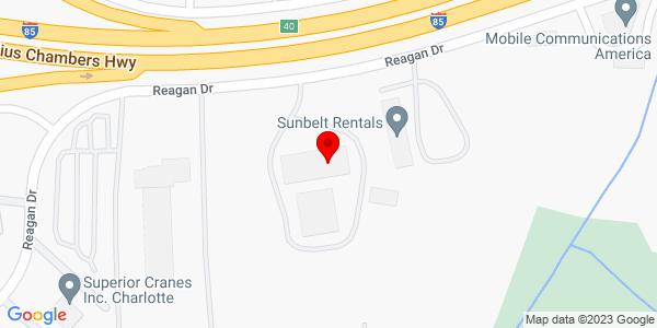 Google Map of +4600+Reagan+Drive+Charlotte+NC+28253