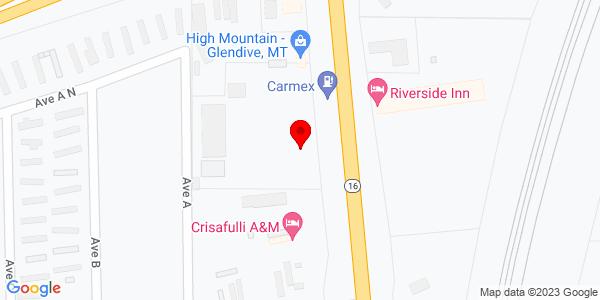 Google Map of +47+Hwy+16+Glendive+MT+59330