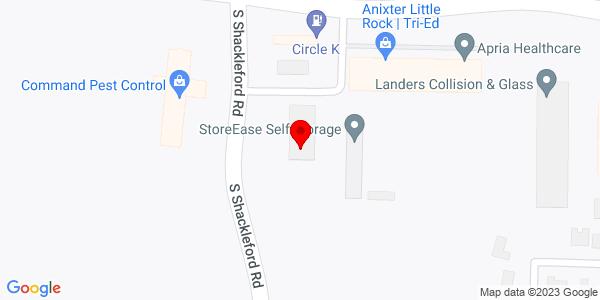 Google Map of +4715+S+Shacklefoard+Road+Little+Rock+AR+72204