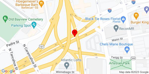 Google Map of +4901+Interstate+Highway+37+Corpus+Christi+TX+78408