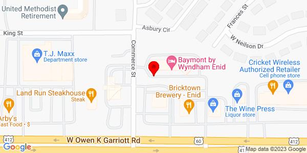 Google Map of +4914+W++Garriott+Enid+OK+73701
