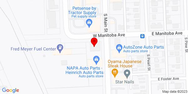 Google Map of +501+South+Main+Street+Ellensburg+WA+98926