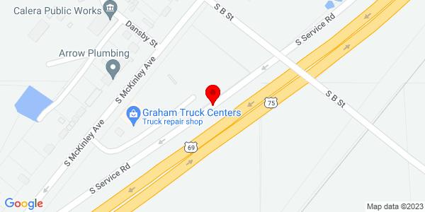 Google Map of +504+S+Service+Road+Calera+OK+74730