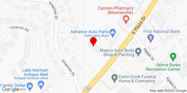 Google Map of +505+E.+Plaza+Drive+Mooresville+NC+28115