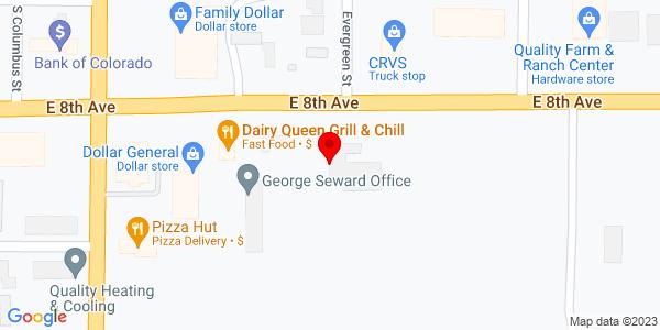 Google Map of +507+E+8th+Avenue+Yuma+CO+80579