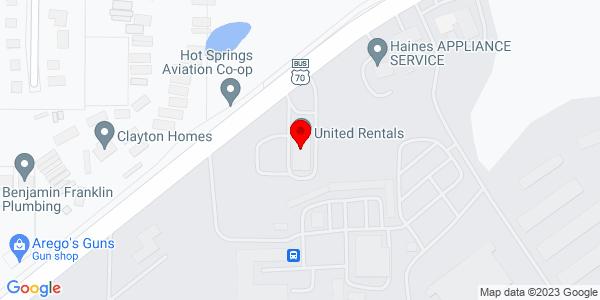 Google Map of +513+Airport+Road+Hot+Springs+AR+71913