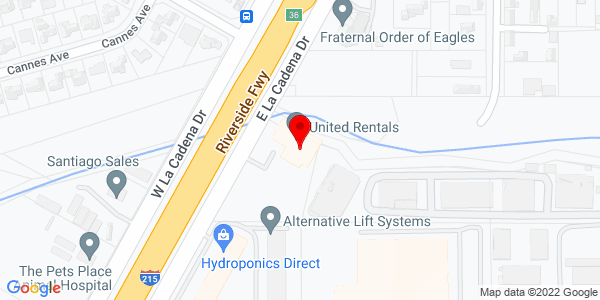 Google Map of +520+East+La+Cadena+Drive+Riverside+CA+92507