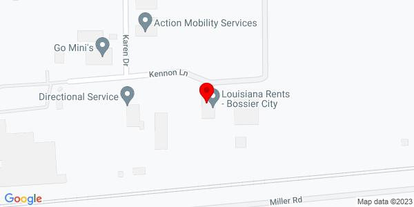 Google Map of +5410+Kennon+Lane+Bossier+City+LA+71112