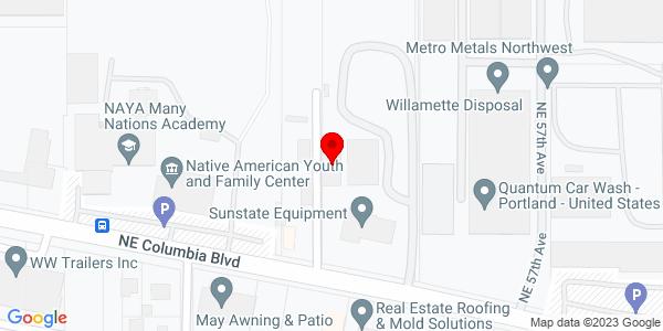 Google Map of +5413+Northeast+Columbia+Blvd+Portland+OR+97218