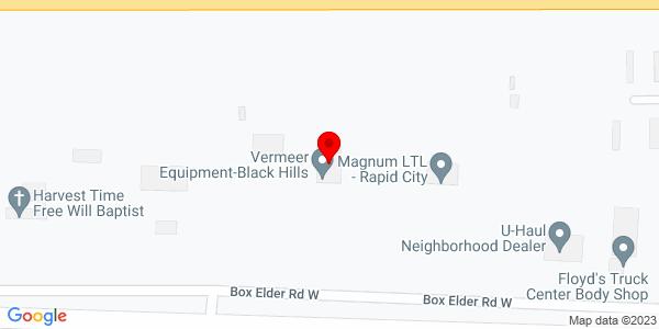 Google Map of +550+Box+Elder+Rd.+W++Box+Elder++SD+57719+