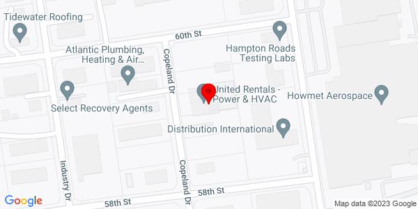 Google Map of +602+Copeland+Drive+Hampton+VA+23661