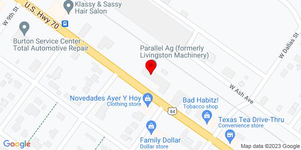 Google Map of +602+W+American+Blvd+Muleshoe+TX+79347