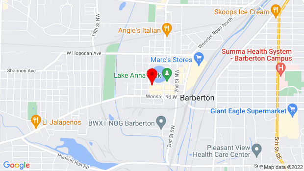 Google Map of 602 West Park Avenue, Barberton, OH 44203