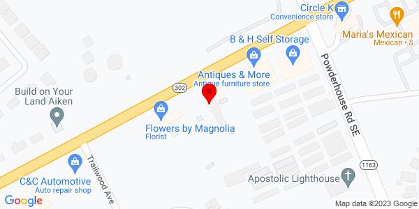 Google Map of +610+E.+Pine+Log+Road+Aiken+SC+29803