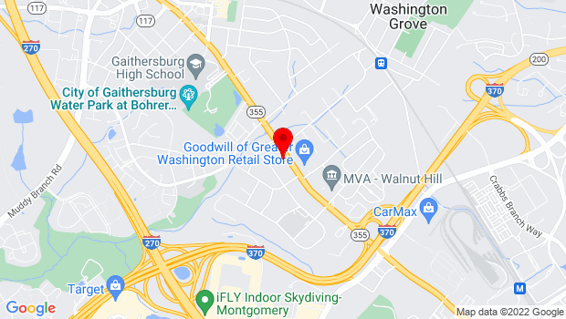 Google Map of 610 S Frederick Ave., Gaithersburg, MD 20877