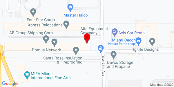 Google Map of +6144+NW+74th+Avenue+%28export+parts+facility%29+Miami+FL+33166-3710