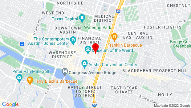 Google Map of 615 Red River Street, Austin, Texas 78701