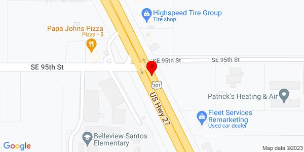 Google Map of +6195+N+Hwy+441+Ocala+FL+34475