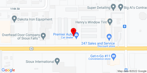 Google Map of +6308+West+12th+Sioux+Falls+SD+57107