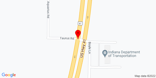 Google Map of +6901+Highway+41+N+Evansville+IN+47725