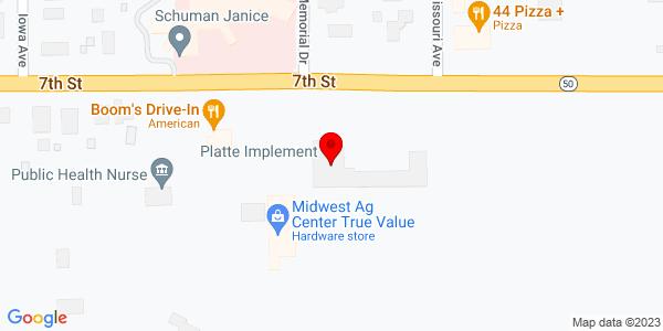 Google Map of +700+E.+7th+Street+Platte+SD+57369-0678