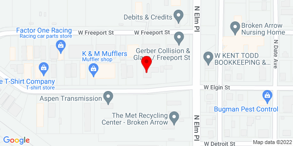 Google Map of +708+W+Elgin+Street+Broken+Arrow+OK+74012