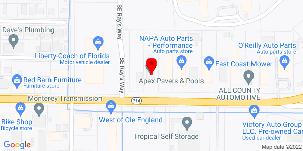 Google Map of +725+Se+Monterey+Road+Stuart+FL+34994