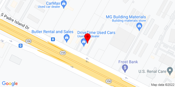 Google Map of +7336+South+Padra+Island+Drive+Corpus+Christi+TX+78412