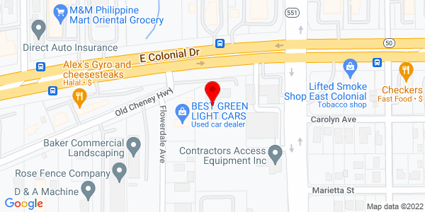 Google Map of +7410+East+Colonial+Drive+Orlando+FL+32807