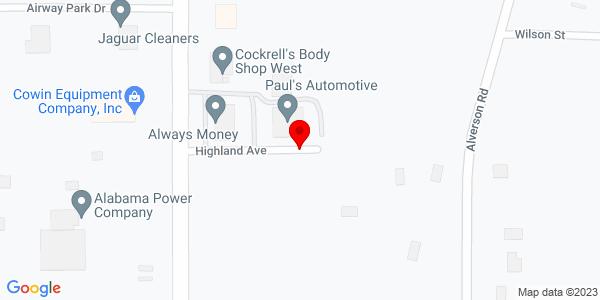 Google Map of +7760+Highland+Avenue+North++Mobile+AL+36608