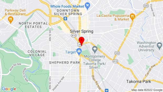 Google Map of 7995 Georgia Ave, Silver Spring, MD 20910