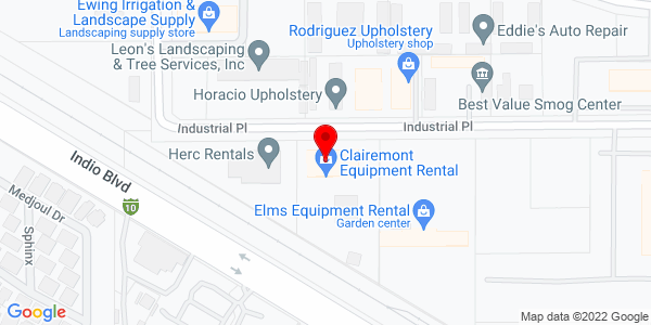 Google Map of +81-501+Industrial+Place+Indio+CA+92201
