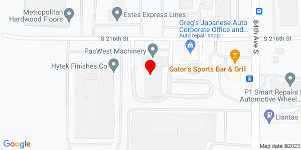 Google Map of +8207+S+216th+Street+Kent+WA+98032