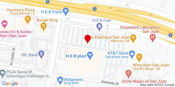 Google Map of +901+E+Interstate+2+San+Juan+TX+78589