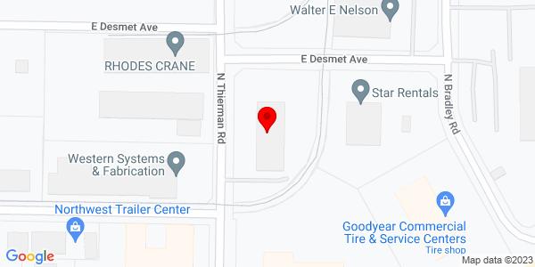 Google Map of +910+N+Thierman+Road+Spokane+Valley+WA+99202
