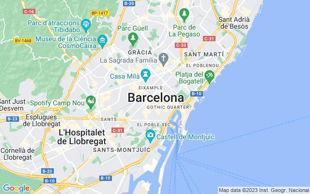 Mapa de Barcelona Provincia