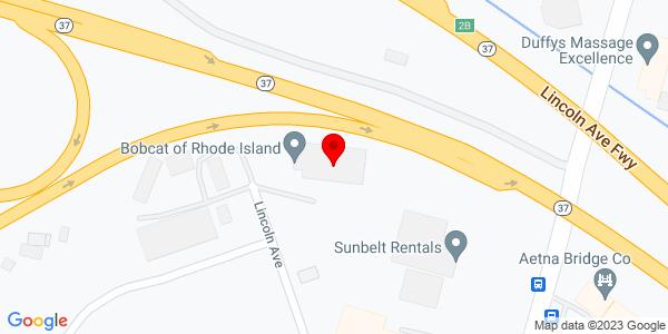 Google Map of +Bobcat+of+Rhode+Island%2C+421+Lincoln+Avenue+Warwick+RI+02888